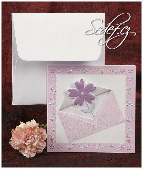 Svatební oznámení s květinou vzor 2356
