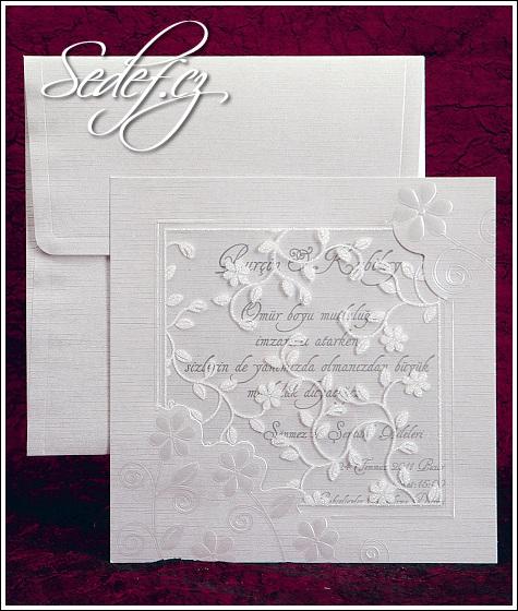 Svatební oznámení čtverec vzor 2430