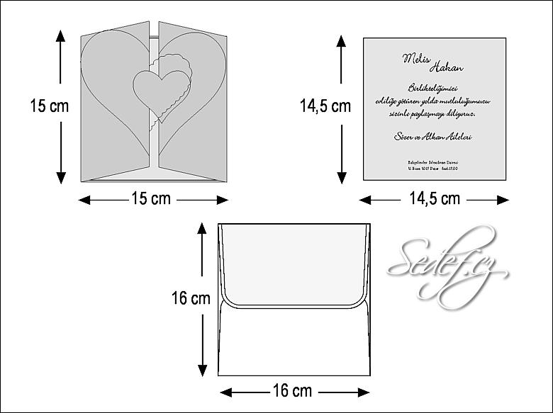 Rozměry svatebního oznámení 2431