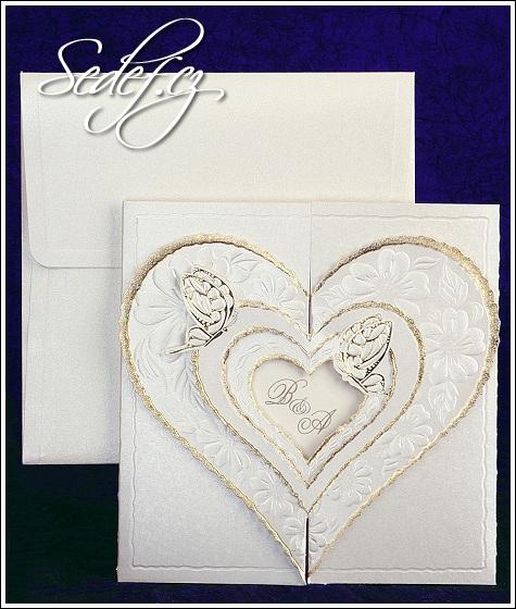 Svatební oznámení se srdcem vzor 2431
