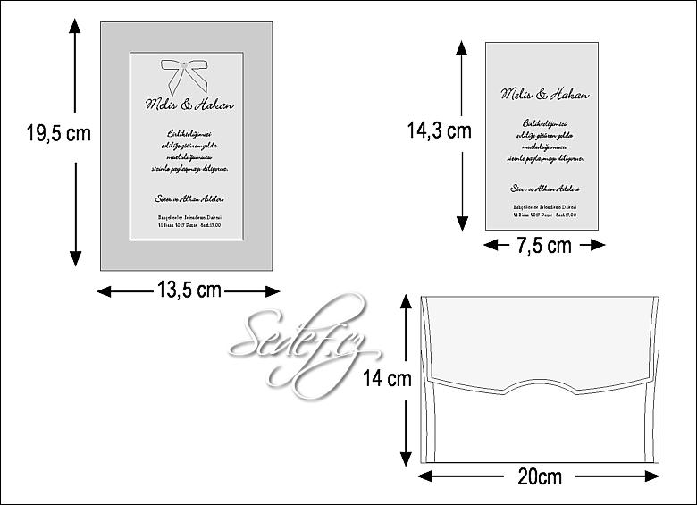Rozměry svatebního oznámení 2435