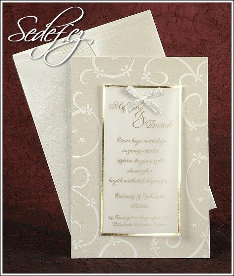 Svatební oznámení s pergamenem vzor 2435