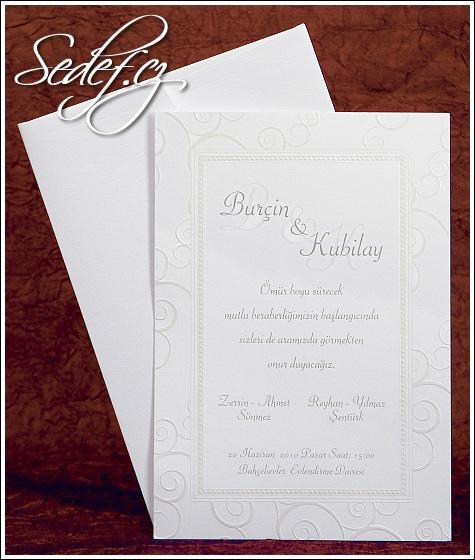 Bílé svatební oznámení vzor 2446