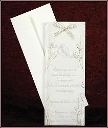 Svatební oznámení ve formě velmi štíhlé karty, vzor 2461