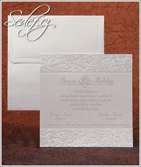 Čtvercové svatební oznámení vzor 2480