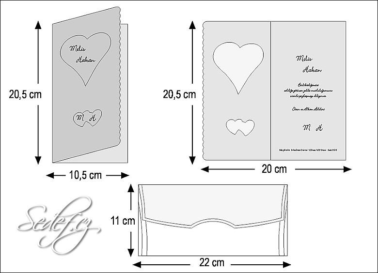 Rozměry svatebního oznámení 2487