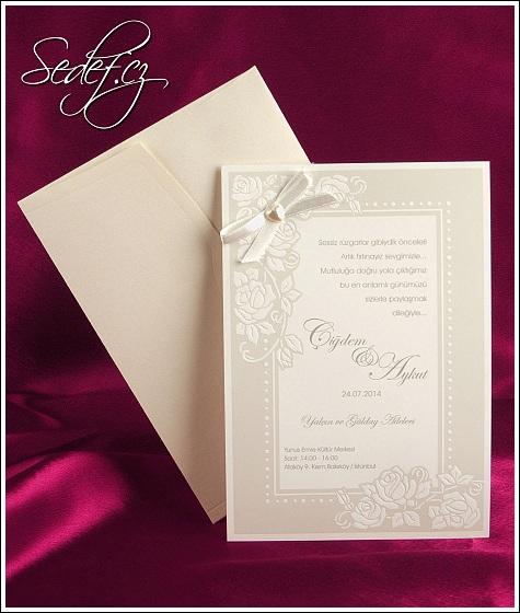 Svatební oznámení vzor 2507