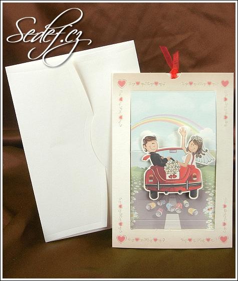 Svatební oznámení s autem vzor 2513
