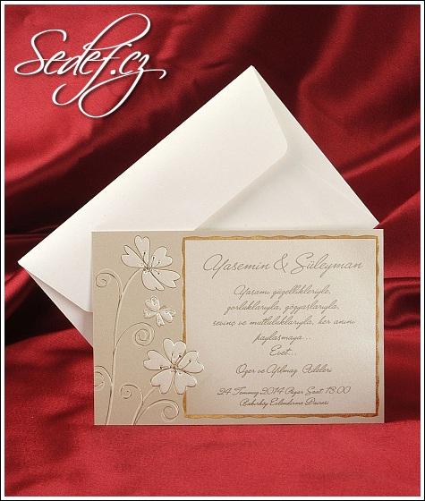 Svatební oznámení s kytičkami vzor 2515