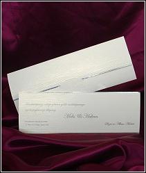 Stříbřité svatební oznámení, vzor 2518