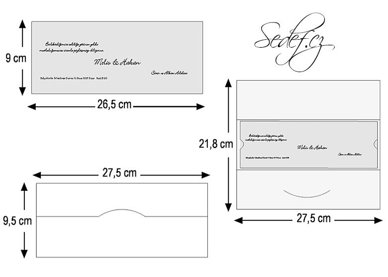 Rozměry svatebního oznámení 2518