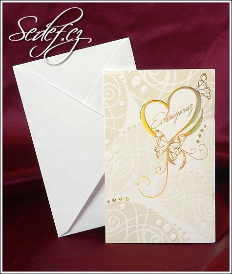 Svatební oznámení s motýlky vzor 2520