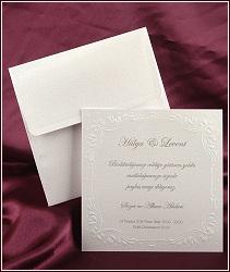 Svatební oznámení čtverec se slepotiskem, vzor 2524