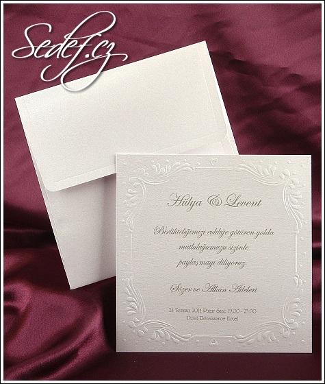 Svatební oznámení čtverec vzor 2524
