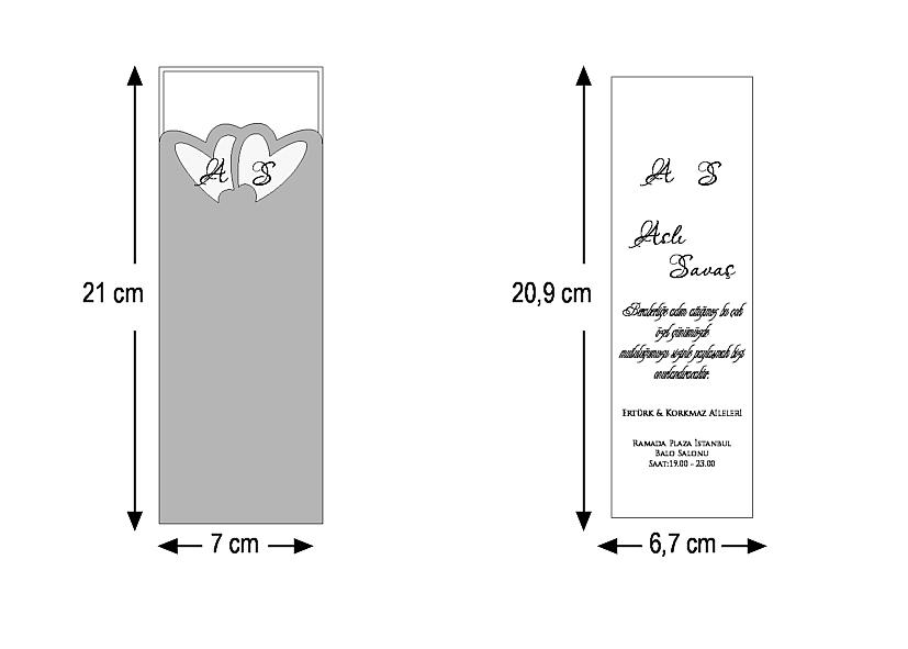 Rozměry svatebního oznámení 2607