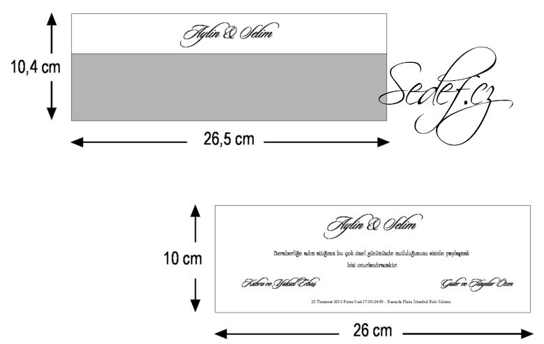 Rozměry svatebního oznámení 2611