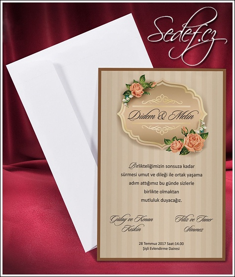 Svatební oznámení vzor 2654