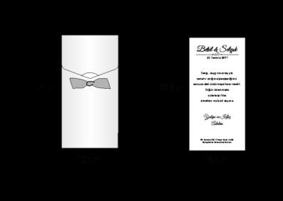 Rozměry svatebního oznámení 2662