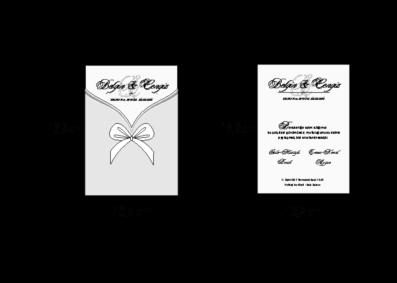 Rozměry svatebního oznámení 2672