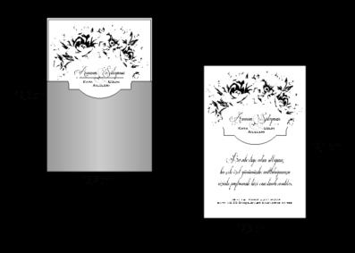 Rozměry svatebního oznámení 2675