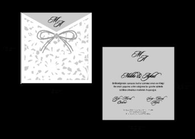 Rozměry svatebního oznámení 2676