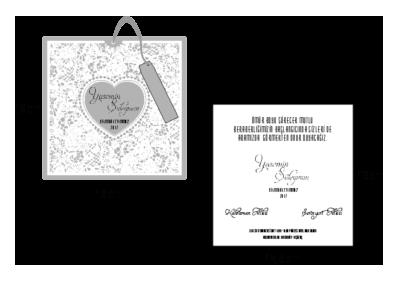 Rozměry svatebního oznámení 2686