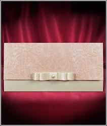 Květinové svatební oznámení s perleťově růžovou chlopní vzor 2694
