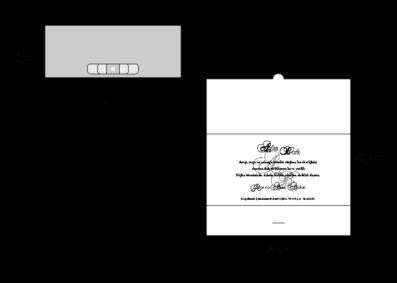 Rozměry svatebního oznámení 2694