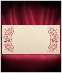 Jemné svatební oznámení s růžovými kvítky vzor 2697