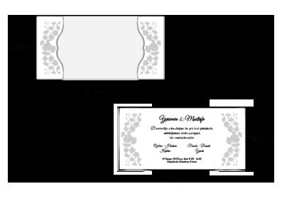 Rozměry svatebního oznámení 2697