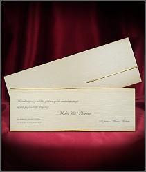 Dvoudílné decentní svatební oznámení s minimalistickou výzdobou vzor 2698