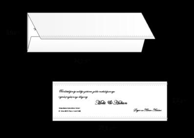 Rozměry svatebního oznámení 2698