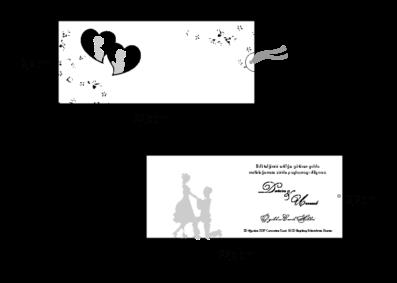 Rozměry svatebního oznámení 2704