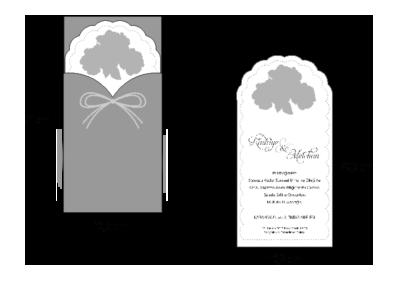 Rozměry svatebního oznámení 2709