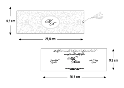 Rozměry svatebního oznámení 2713