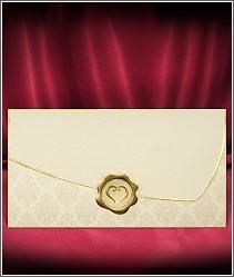 Elegantní svatební oznámení zdobené zlatou pečetí vzor 2715
