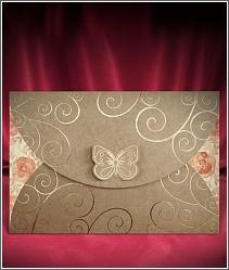 Luxusní svatební oznámení z kraftového papíru (recyklovaného papíru) vzor 2717