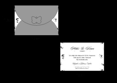 Rozměry svatebního oznámení 2717