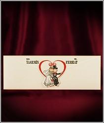 Humorné svatební oznámení s komickými kreslenými postavičkami vzor 2724