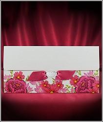 Květované svatební oznámení zdobené červenými květinami vzor 2725