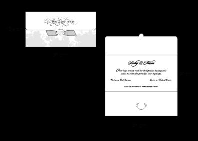 Rozměry svatebního oznámení 2725