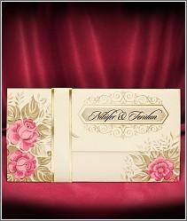 Květinové svatební oznámení zdobené růžemi vzor 2731