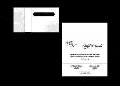 Rozměry svatebního oznámení 2731