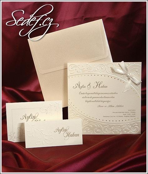 Svatební oznámení čtverec vzor 3584