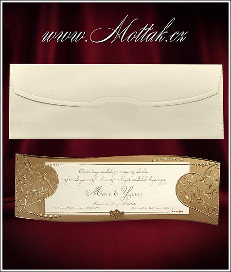 Luxusní svatební oznámení vzor 3592