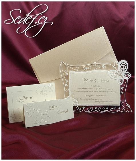 Svatební oznámení s motýlky 3596