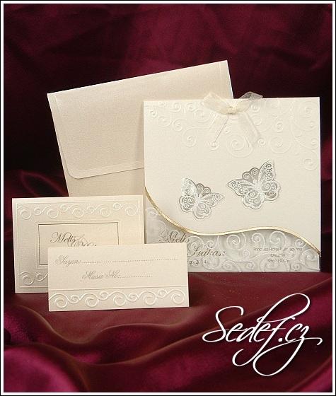 Svatební oznámení s motýlky vzor 3602
