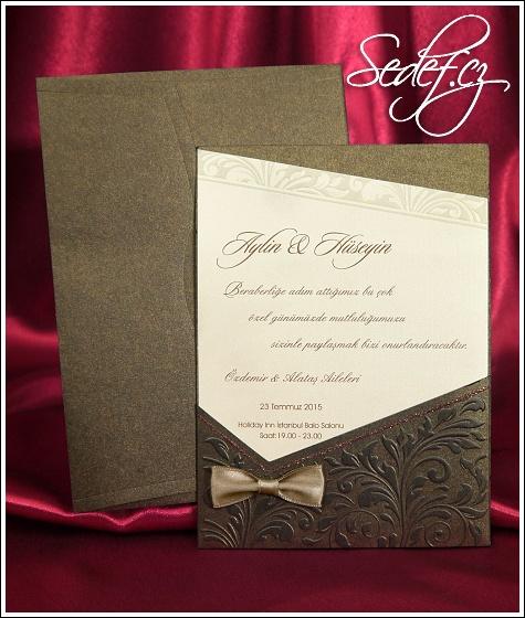 Svatební oznámení vzor 3627