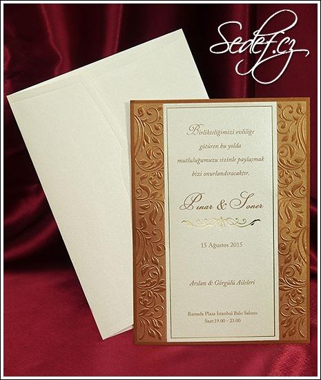 Svatební oznámení vzor 3632