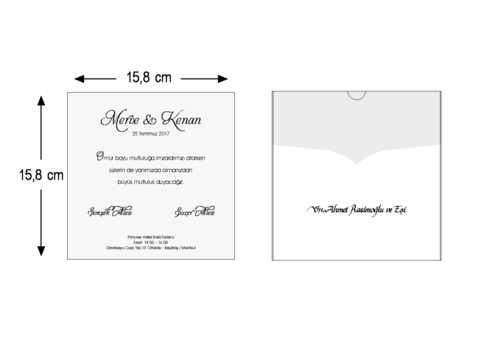 Rozměry svatebního oznámení 3666